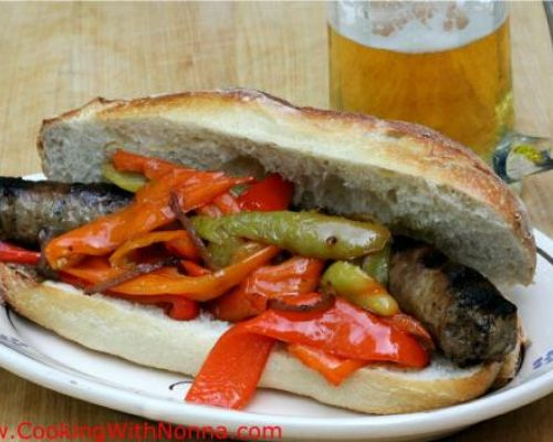 Sausage and Peppers Hero