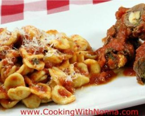 Homemade Orecchiette with Braciole