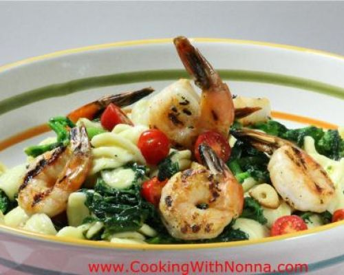 Orecchiette with Broccoli Rabe and Grilled Shrimp Pasta Salad