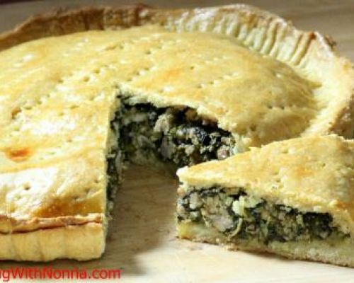 Broccoli Rabe and Sausage Pie