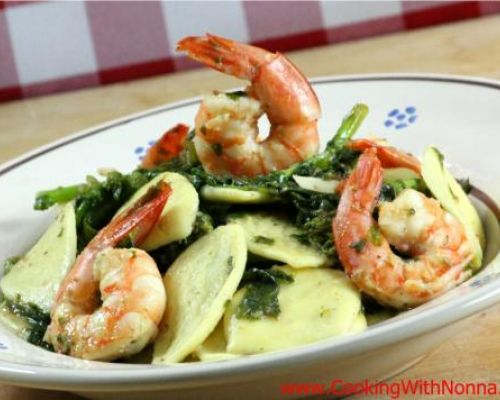 Strascinati, Shrimp and Broccoli Rabe