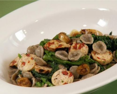 Whole Wheat Orecchiette - Rabe - Chicken Sausage