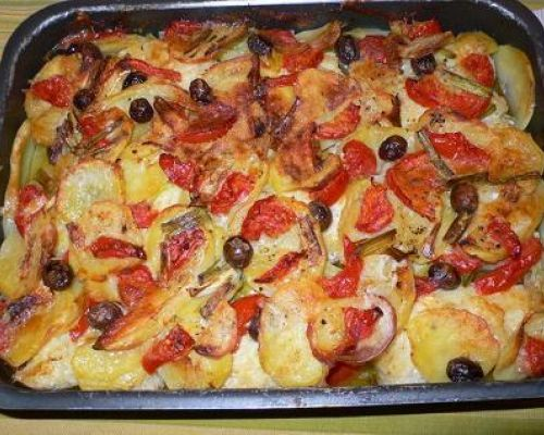 Baked Baccala and Potatoes